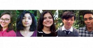Cinco estudiantes de secundaria llamado Nacional de Estudiantes de los Poetas