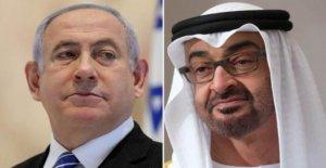 Israel y los EMIRATOS árabes unidos huelga histórico acuerdo de paz