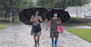 Kim visitas a Corea del Norte de la zona de inundación, los pedidos de refugio, ayuda alimentaria
