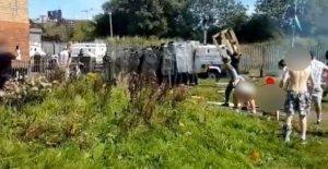'La ira' sobre tácticas de policía durante Belfast problemas