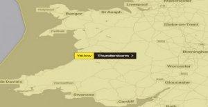 Las tormentas pronosticadas para el país de Gales el lunes