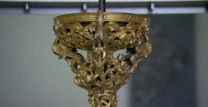 Medieval candelero recreado el uso de la impresión 3D
