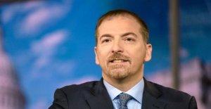 NBC News' Chuck Todd atacados por los liberales, por no ser lo suficientemente resistente en el Triunfo oficial