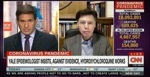No hables por mí': Yale médico batallas presentador de la CNN sobre la eficacia de la hidroxicloroquina