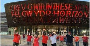 Puntos de referencia en Alerta Roja para apoyar Covid golpe artes