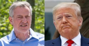 Trump dice NYC fue 'tan bien' antes de salir, no mucho más