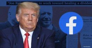 Trump reacciona después de que Facebook...