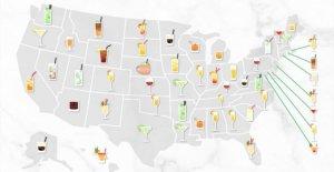 Mapa revela que la mayoría de los cócteles a través de NOSOTROS durante la pandemia de