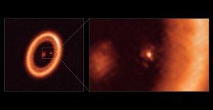 Los astrónomos detectan por primera vez este fenómeno de formación de la luna