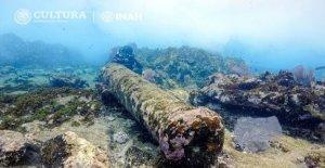 El naufragio de 200-año-viejo barco de vela situada en México