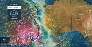 Una vez en una década de' tormenta que azotó el oeste de Australia