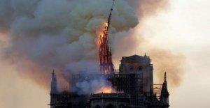 La catedral de Notre Dame de la aguja que se adhieren al 19 de diseño del Siglo