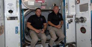 Los astronautas de la Nasa conjunto de los océanos amerizaje