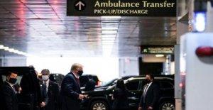 Trump visitas hermano en el hospital de Nueva York